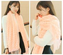 New Design Scarf Women Shawls High Quality Warm Coral Fleece Imitation Fur Scarves Winter Ladies Fashion Women feminino C02025(China (Mainland))
