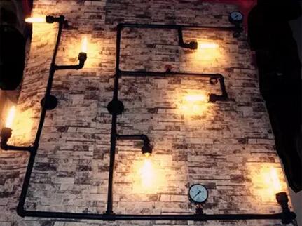 big art decoration Vintage american loft water pipe wall lamp personalized bar sconce lighting - Goddesslighting Factory's store