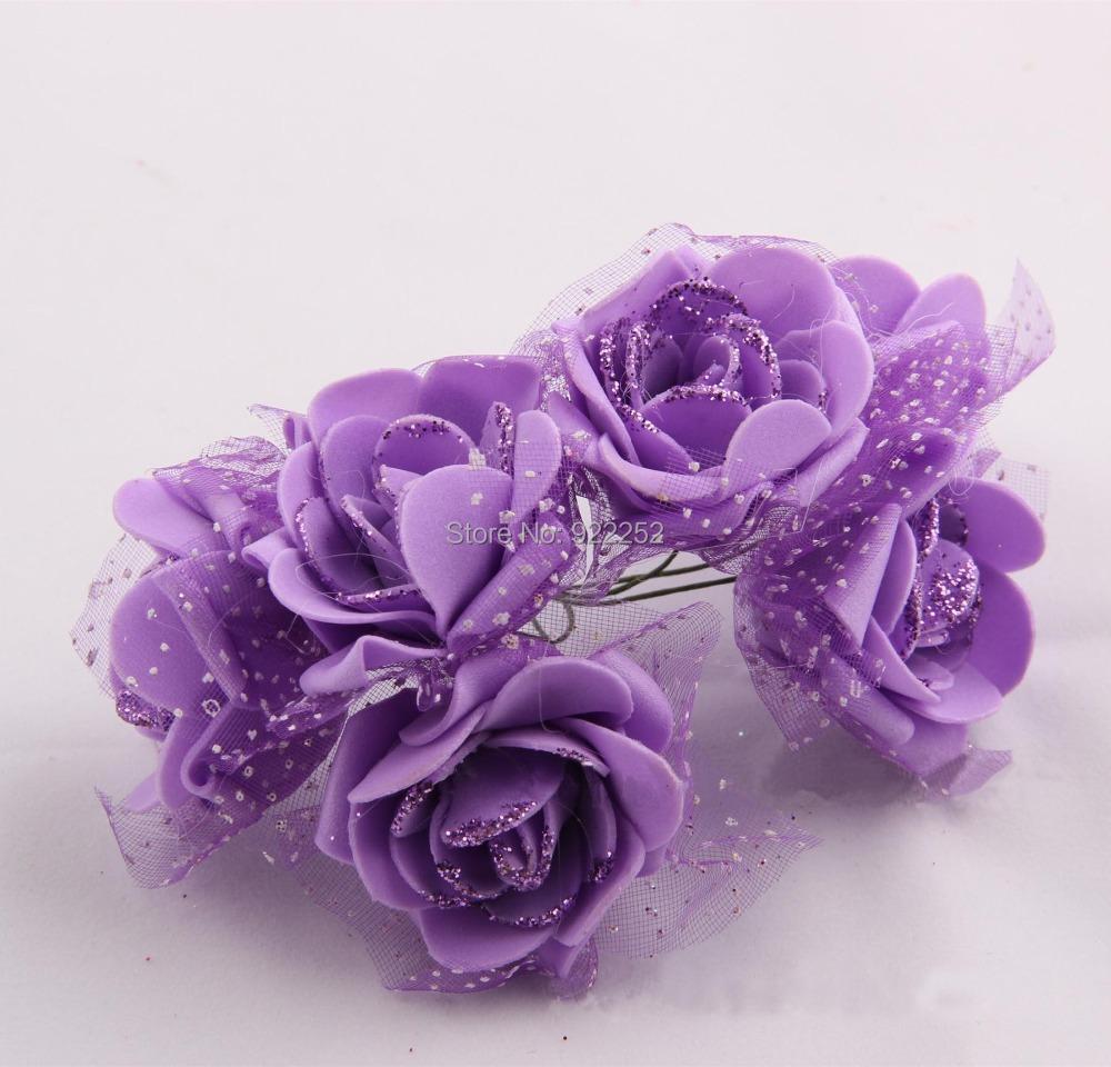 5CM artificial floral foam eva glitter roses,wedding bridal bouquet,diy craft party table decoration,wrist corsage,garland hair(China (Mainland))