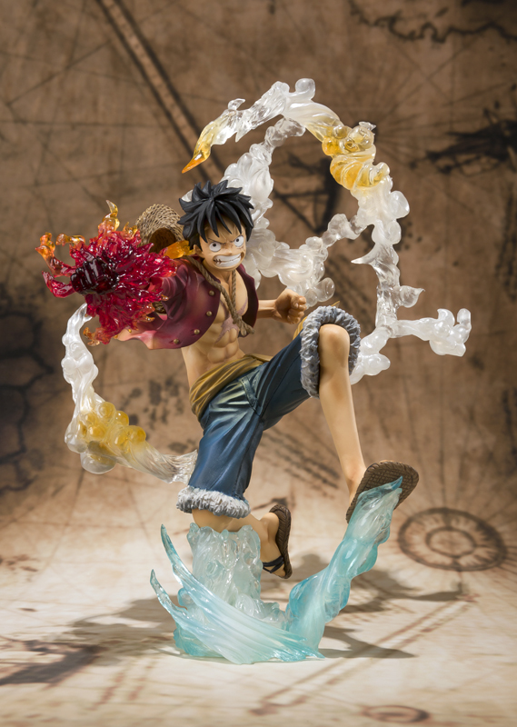 Free Shipping 7 One Piece Monkey D Luffy Battle Ver Figuarts Zero font b Anime b