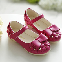 Hot Sale Children Shoes Girls Shoes Princess Shoes Bowknot Summer Spring Autumn Girls Casual Shoes 4 Color(China (Mainland))