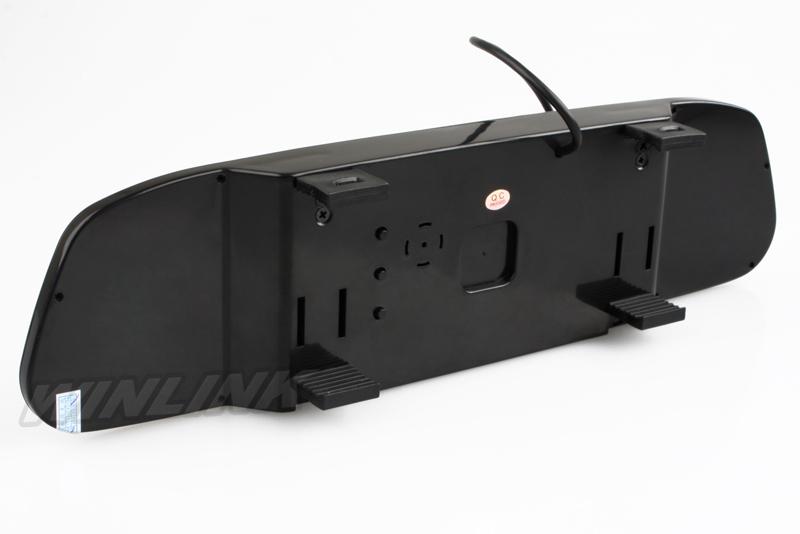 Купить Система помощи при парковке 4.3 дюйма TFT LCD обратное зеркало для авто монитор заднего вида + 4 Светодиодных Фонариков Автомобильная Камера Заднего Вида