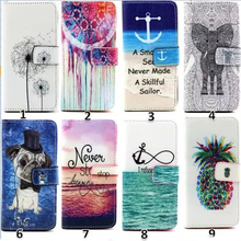 Painting Style Girl Love Elephants Flower Card Wallet Leather Case For iPhone 6 4.7inch Flip Cover With Card Stand Holder Phone(China (Mainland))