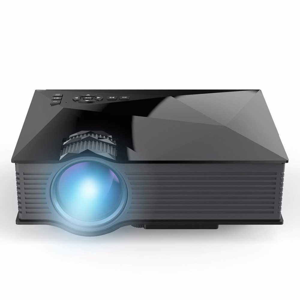 NEW UC46 Pico Portable Projector WiFi Wireless 1200 Lumens LCD LED Projektor Multimedia Home Theater Beamer Proyector Projetor(China (Mainland))