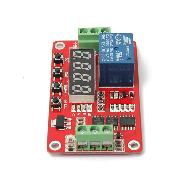 High Quality Newest 12V DC Multifunction Self lock Relay PLC Cycle Timer Module Delay Time Switch