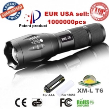 USA EU Hot E17 CREE XML T6 LED 3800LM Aluminum Zoomable Flashlights Torches lamplight for 18650 Rechargeable or AAA Battery(China (Mainland))