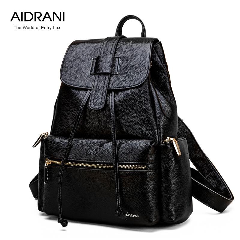 Aidrani 2016 Brand Backpacks Genuine Leather Bag Fashion Casual Backpack Cowhide Schoolbags Women Backpacks<br><br>Aliexpress