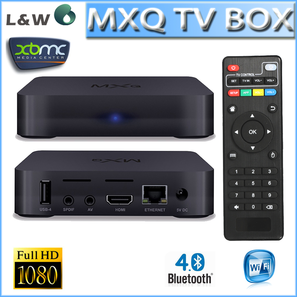 New MXQ TV BOX 1GB/8GB MX Amlogic S805 Quad Core Android 4.4 Kitkat 4K XBMC WIFI Support Bluetooth 4.0 Free Shipping(China (Mainland))