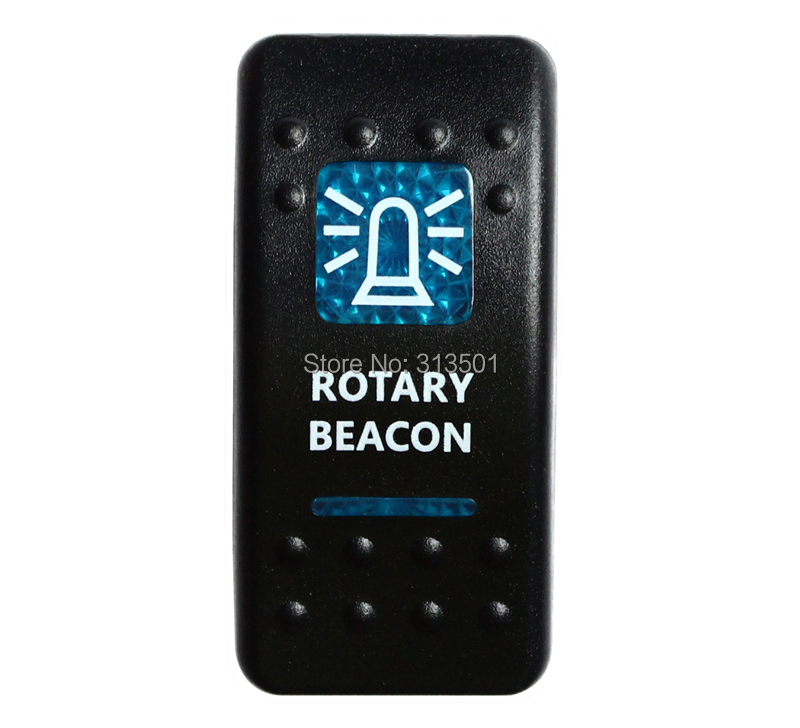 ROTARY BEACON Rocker Switch 5P SPST ON/OFF Blue Led 12V/24V for Marine Boat Car(China (Mainland))