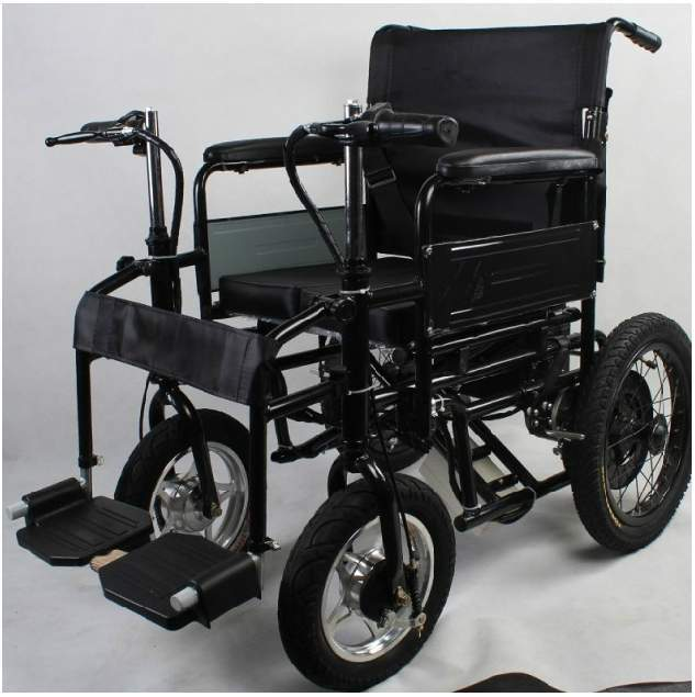 Korean imports of thick stainless steel folding electric wheelchair elderly people with disabilities travel wagon armrest postag(China (Mainland))