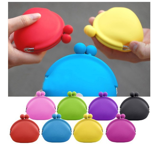 Free shipping by DHL silicone bag coin bag 100pcs/lot 10 colors choose BG012<br><br>Aliexpress