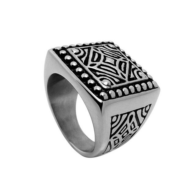 2016 New Summer Fashionable Men's 316L Stainless Steel Ring Unique Exaggerated thick Prevent allergy ring MH5028(China (Mainland))