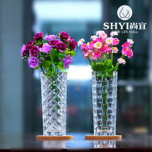 High quality fashionable style crystal glass vase flower pot planter transparent hydroponic flower vase(China (Mainland))