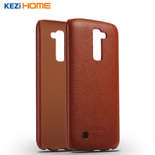 Buy Case LG K10 KEZiHOME Litchi Pattern Genuine Leather Hard Back Cover capa LG K10 Phone cases coque for $8.07 in AliExpress store