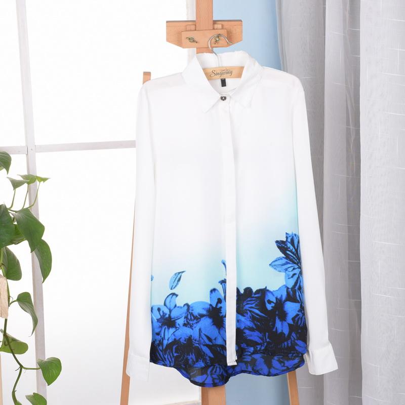 Модные блузки с воротником с доставкой