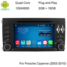 Free Ship Android 5.1.1 Quad Core Car DVD Player for Porsche Cayenne 2003-2010 3G Wifi Stereo System BT A9 1.6GHz CPU 16GB Flash