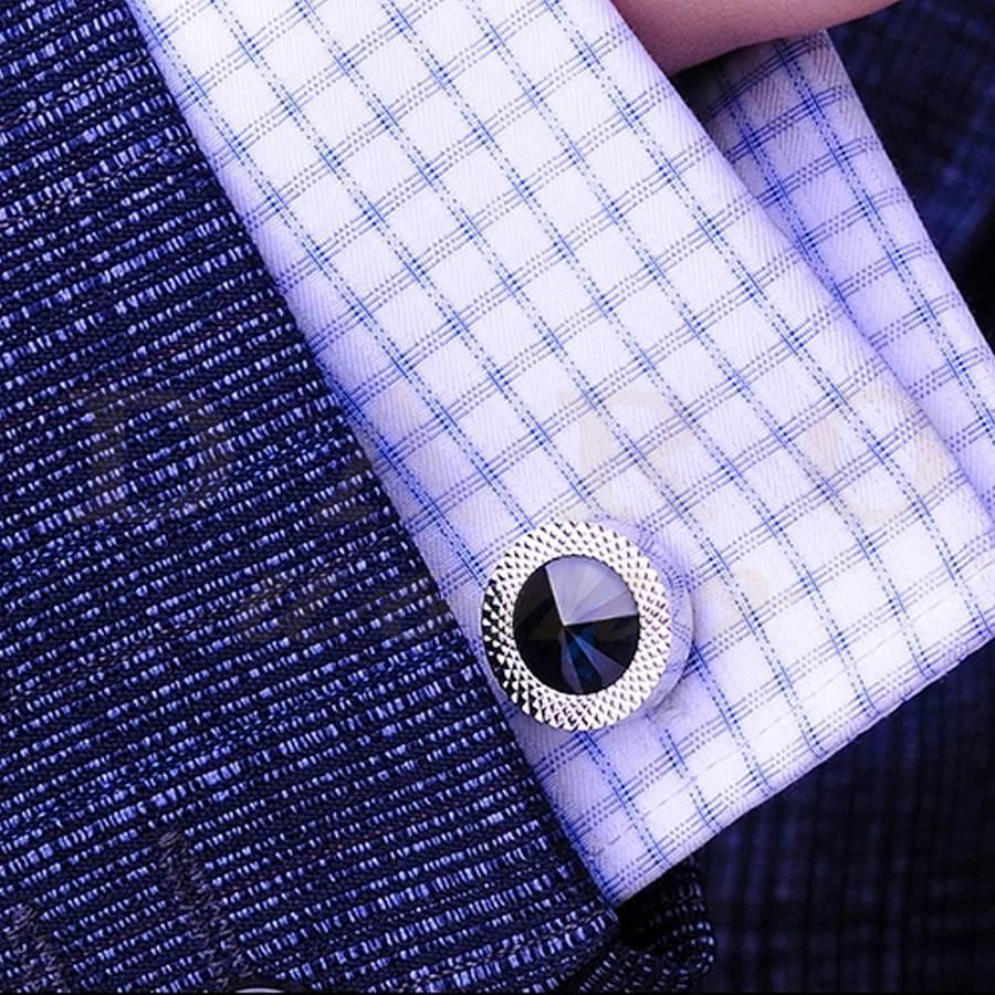 Classical Gentleman Dark Blue Men's Business Shirt Cuff Links Menswear Decor French Nail Accessary DR013K(China (Mainland))