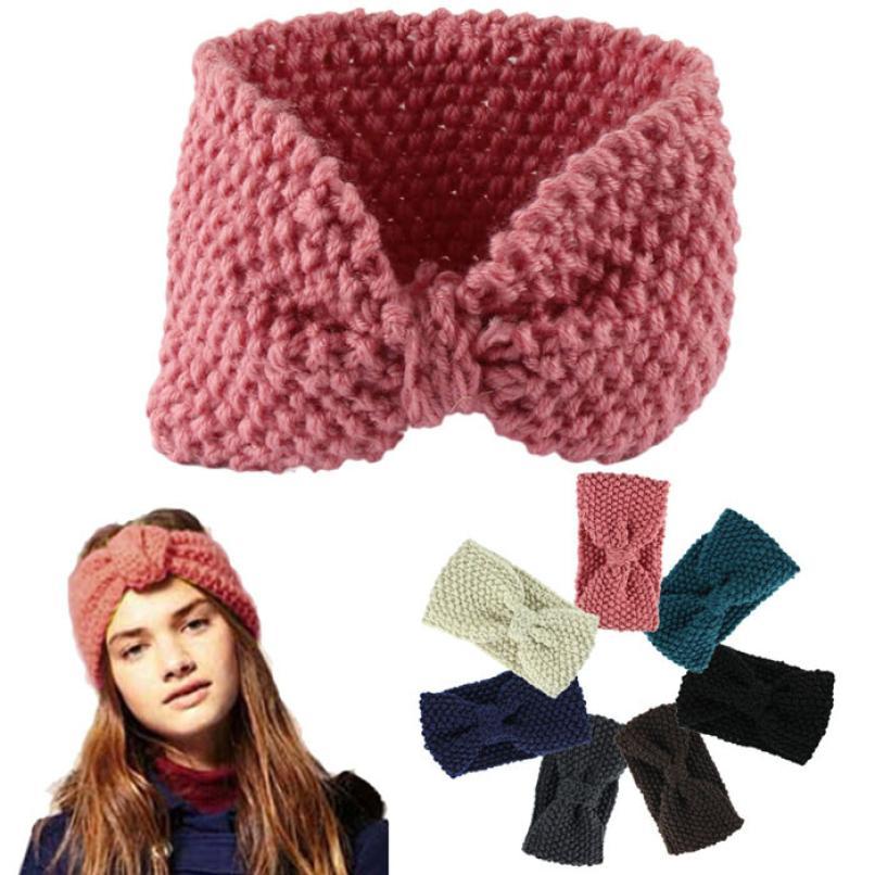 Hot marking Hair accessories Winter Crochet Flower Bow Knitted Head wrap Headband Ear Warmer Hair D1217(China (Mainland))