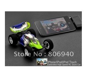 iPhone/iPad/iPod Touch Controlled High Speed RC Stunt Car(China (Mainland))