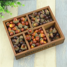 Cheap 20pcs 3cm Chestnut Mini Artificial Fake Foam Fruits and Vegetables Berries Flowers For Wedding Christmas Tree Decoration(China (Mainland))