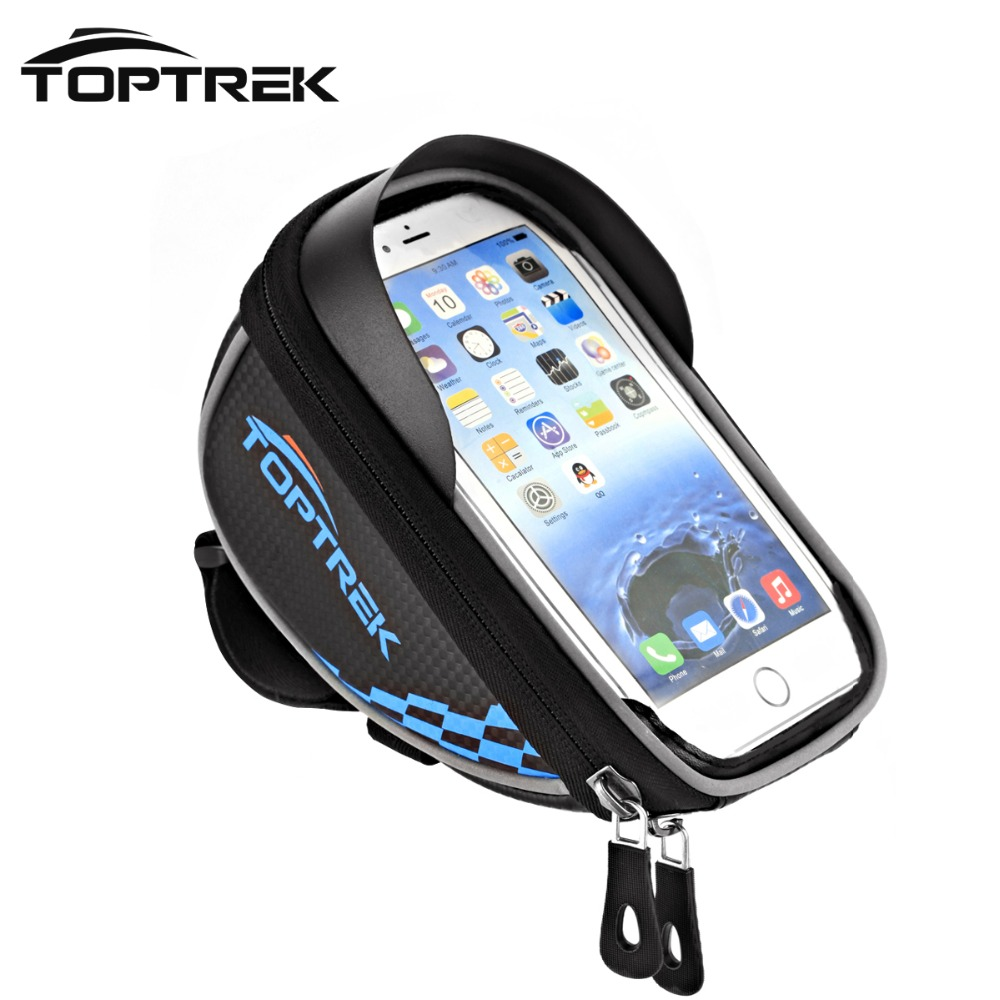 "Toptrek Waterproof Mountain Road MTB Bike Bicycle Front Tube Top Frame Handlebar Cycling Bag For 5.5"" Mobile Phone Accessories(China (Mainland))"
