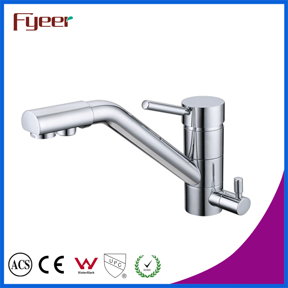 Фотография Free Shipping  Brass 3 way kitchen Sink faucets Hot and Cold Kitchen Filter Tap