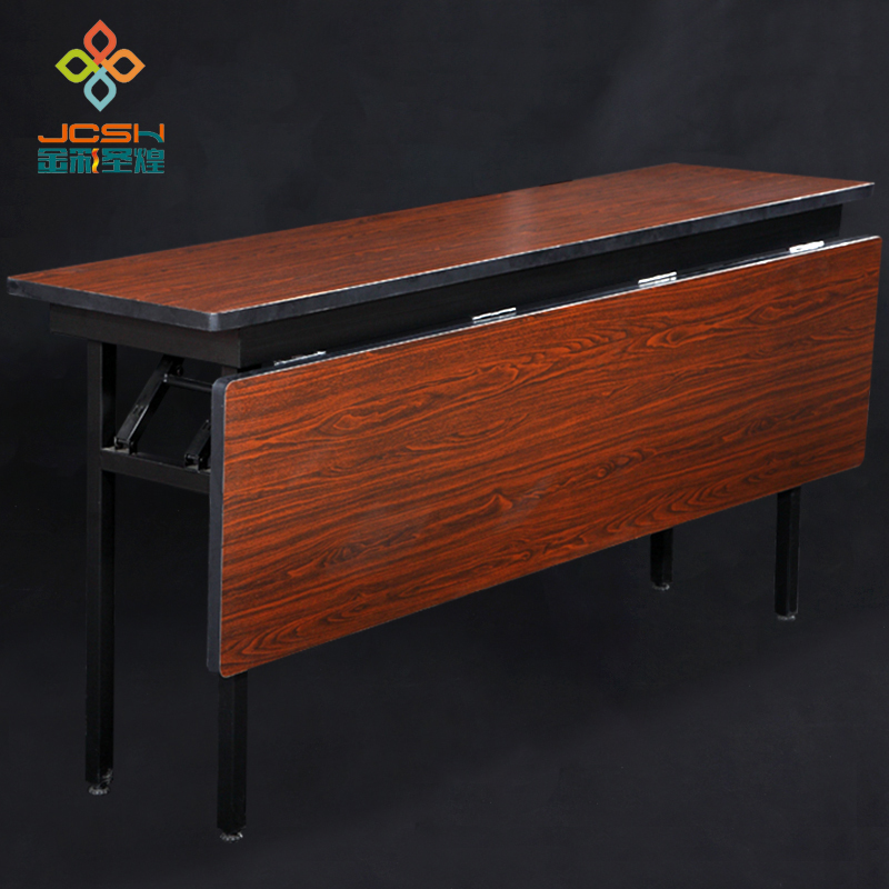 Custom Folding Table Long Meeting Training Office Table Household Double Desk(China (Mainland))