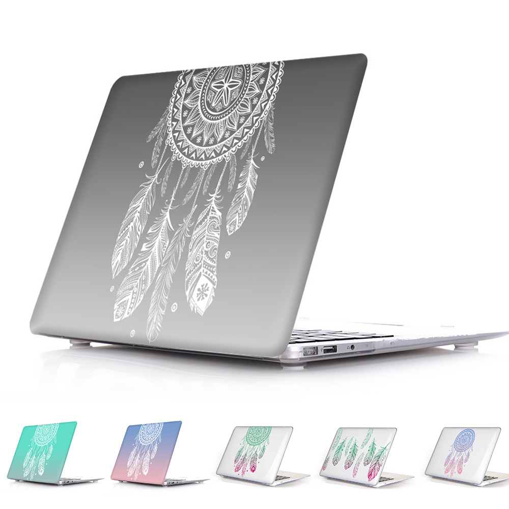 Amazing Unique Dream Catcher Feather Pattern Air 13 11 Crystal Clear Case for MacBook Pro Retina 13 15 Hard Cover Mac Book 12(China (Mainland))