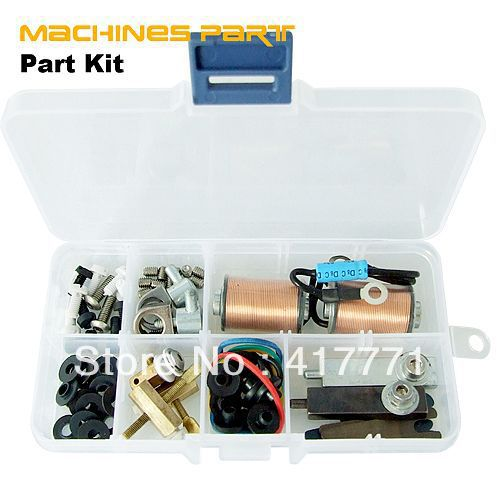 Tattoo Machine Gun Repair and Maintain coil,springs,screws,binding posts,tube vice clamps Parts Accessories(China (Mainland))