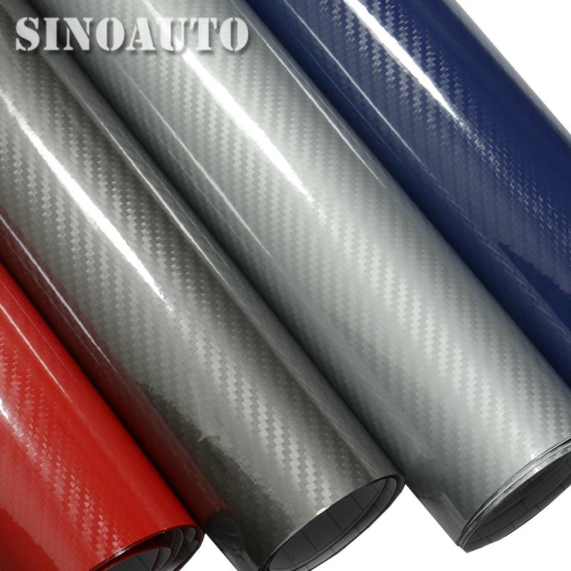 Super Glossy 5D 3D Carbon Fiber Vinyl Wrap Glossy Textured Carbon Fiber Shiny Foil Air Free Bubble Air Drain 1.52x20m Dr Motor(China (Mainland))