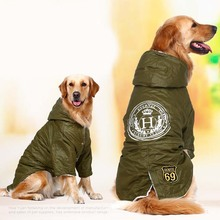 Buy Army green Winter Warm big large Dog Pet Clothes hoodie fleece golden retriever dog cotton Padded jacket coat clothing dog for $15.68 in AliExpress store