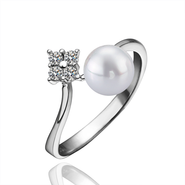Engagement 925 Silver Pearl wedding Ring For bijoux women Sterling Silver Jewelry love jewellery JZ5521