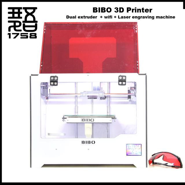 Новый БИБО 3d принтер WI-FI функция impressora 3d Лазерная гравировка imprimante 3d машины Двойной экструдер 3d-принтер с тепло-кровать