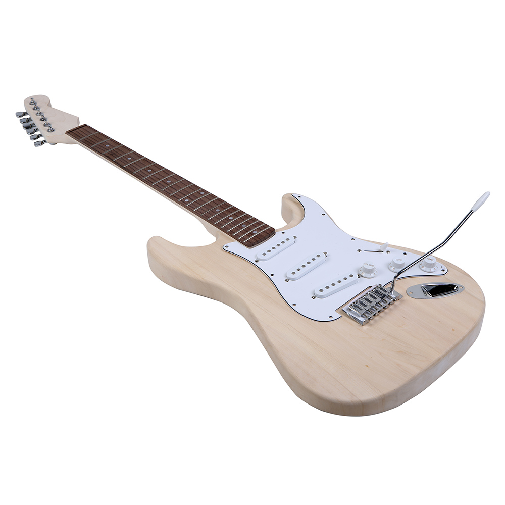 Top Quality Electric Guitar DIY Kit Set Durable Basswood Body Maple Neck Rosewood Fingerboard with Accessories(China (Mainland))