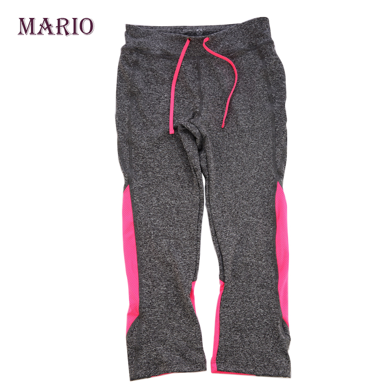 New Spring-Summer Women's High quality Fashion Cropped pants High Elastic yogo Comfortable Sports pants(China (Mainland))