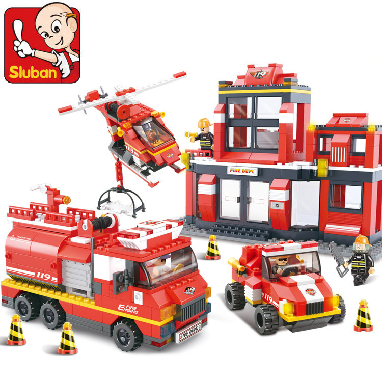 Building Block Sets Compatible with lego city Fire Department emergency 3D Construction Brick Educational Hobbies Toys for Kids(China (Mainland))