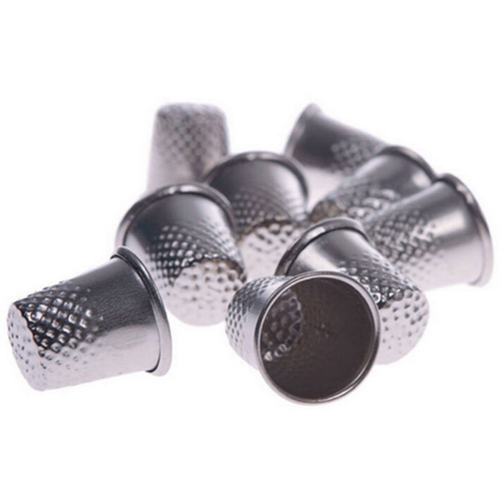 10 Pcs Silver Metal Finger Thimbles Tailor Sewing Grip Shield Protector Sewing Machine Handworking Pin Needle Craft Tools(China (Mainland))