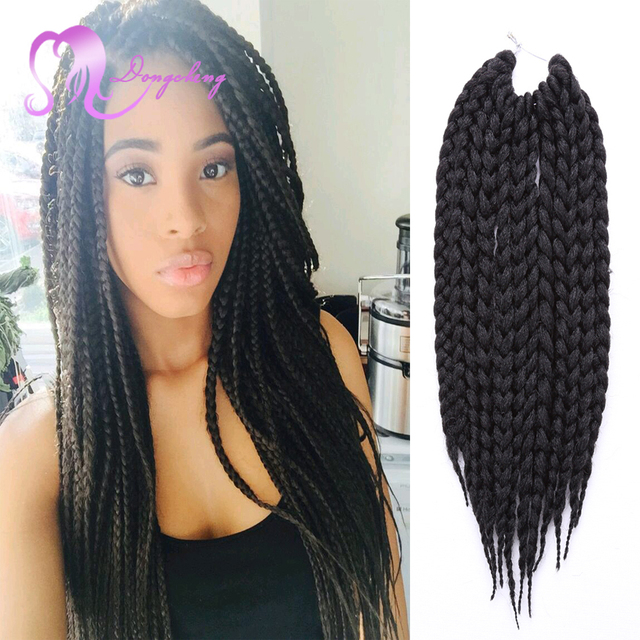 Aliexpress Com Buy Box Braids Crochet Braids 85g Havana