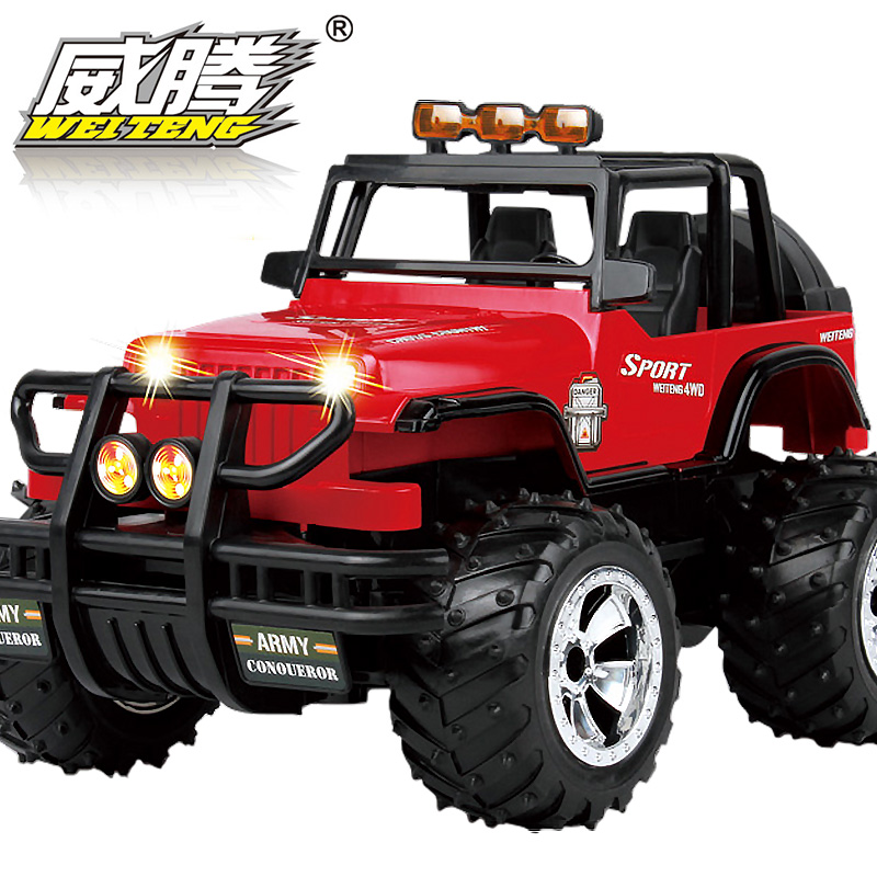 Latest Listing Charge Remote Control Car 1:8 Very Large 50CM Overlength Oversized Steering Wheel Remote Control 4wd Suv Toy Car(China (Mainland))