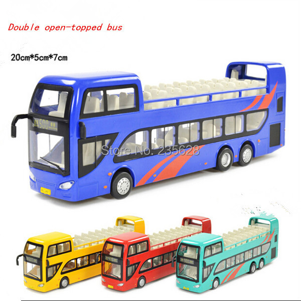 diecast Alloy car models double layer 1947 bus the door WARRIOR bus toy car model(China (Mainland))