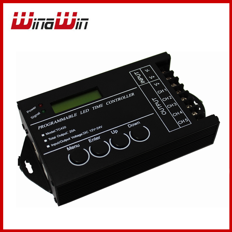 20A 5 Channel Output computer programmable Led Time Controller TC420 Assemble with USB cable(China (Mainland))