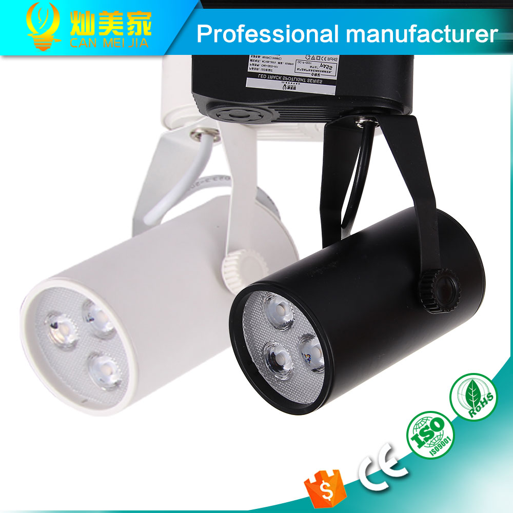 1pcs Black White Led Track Light 3W Commercial Lighting Renovation Led Ceiling Spot Lamp Clothing Store 3W 85-265V(China (Mainland))