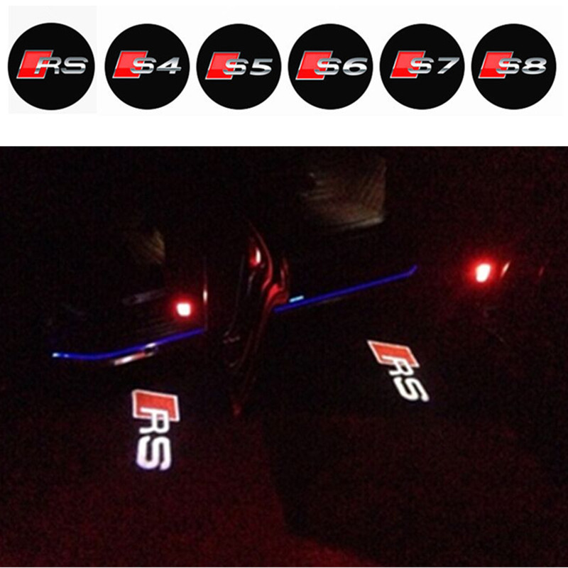Car door LED Light Projector laser Shadow Welcome logo car door led to Audi A3 A4 A5 A6 A7 A8 R8 Q5, Q7, TT S Lin(China (Mainland))