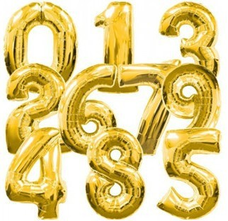 50pcs/lots wholesales 32 inch ( 85cm) Big size foil number balloon Party balloon Wedding balloon ,gold color Free delivery(China (Mainland))