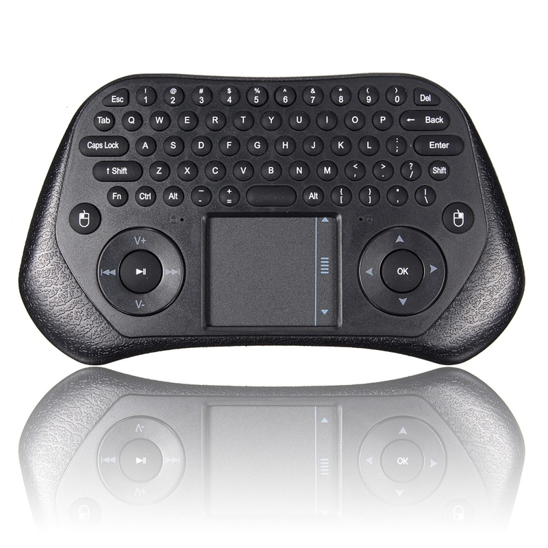 Wireless Keyboard Air Mouse Remote Control Touchpad 2.4GHz Keyboard Touchpad Combo USB Wireless Receiver For Playstation3 Black(China (Mainland))