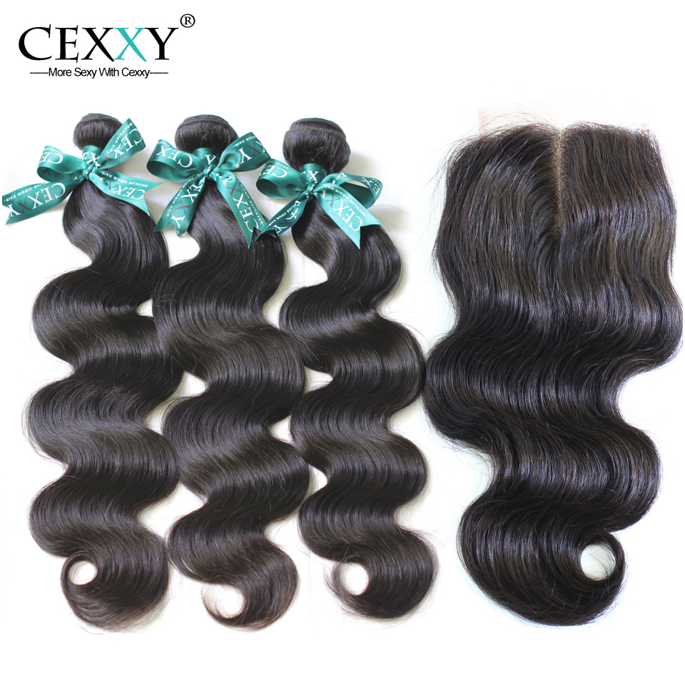Brazilian Virgin Hair Body Wave With Lace Closure For A Full Head 4Pcs Lot ,Shipping Free By DHL or UPS(China (Mainland))