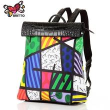 New 2016 Printing Graffiti Owl Backpack Satin & PU Women Backpacks Travel Bag Girl Cartoon Bag Shoulder School Bag Free Shipping(China (Mainland))