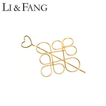 Buy Li & Fang Heart Barrettes Hair Sticks Hairwear 2017 Color Vintage Style Elegant Women Wholesale Hairwear Popular Designer for $1.35 in AliExpress store