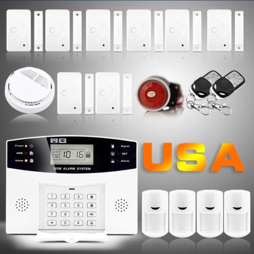 USA buyer Wireless 433MHz 108 Zones Wired Wireless GSM Home Burglar Security Fire Detector Door Sensors Alarm System Auto Dialer(China (Mainland))