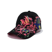 Baseball Caps Butterflies and flowers embroidery Spring and Summer caps fashion women & women baseball hat(China (Mainland))
